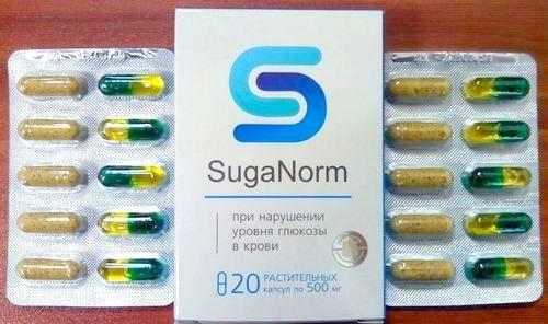 Фото капсул Suga Norm проти діабету